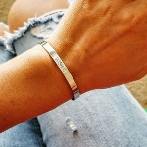 Jewelry - 5 for $25 Silver Color Wish Mantra Cuff Bracelet